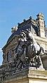La statue de Louis XIV daprès loeuvre de Gianlorenzo Bernini (le Bernin) dans la cour Napoléon du Palais du Louvre.jpg