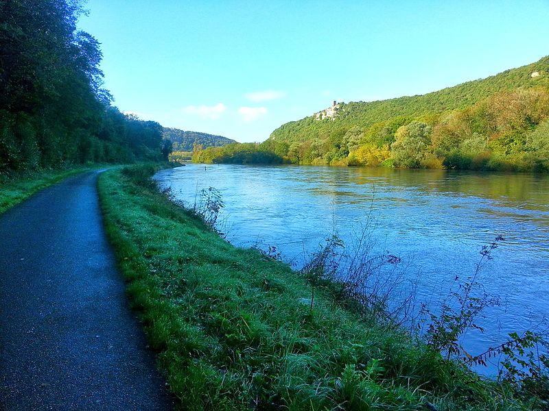 La vélovoie à 15km de Besançon, vers Montferrand-le-Château