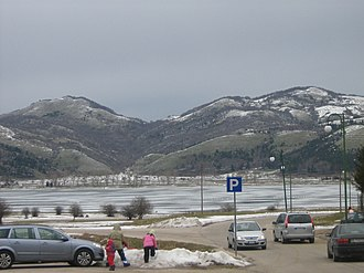 Laceno - View of the frozen lake