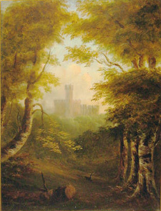 Lady Anne Barnard - An example of her oil work, believed to depict Raby Castle in the County Palatine of Durham, seat of the Lords Barnard