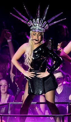 Lady Gaga LoveGame Manchester (cropped).jpg
