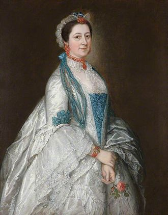 Sir Jacob Downing, 4th Baronet - Lady Margaret Downing, portrait by Thomas Gainsborough
