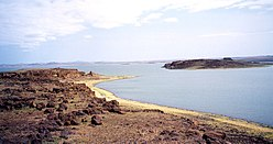 Lake Turkana seen from the South Island