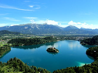Lake Bled - Lake Bled seen from Little Osojnica Hill
