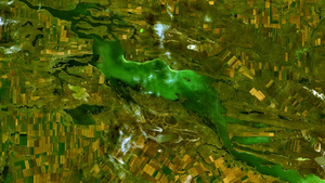 Eurasia Canal - Lake Manych-Gudilo is midway on the course of the proposed Eurasia Canal