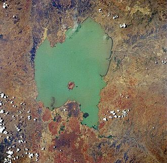 Lake Tana - From space (April 1991).