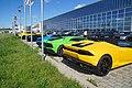 Lamborghini Aventador und Huracán Spyder, Motorworld Böblingen 63.jpg