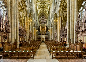 Lancing College - The interior facing west