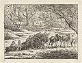 Landschap met een door twee paarden getrokken kar Landschappen (serie C) (serietitel), RP-P-1948-234.jpg