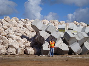 Xbloc - Large Xblocs (8.0m3) on a trial placement area