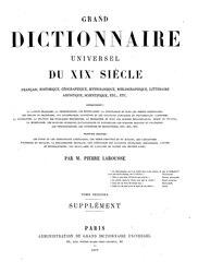 Larousse - Grand dictionnaire universel du XIXe siècle - A-B