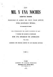 Gustav Weil: Las mil y una noches