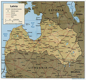 Geography of Latvia - Detailed map of Latvia