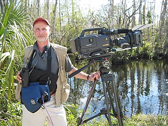 Lawrence Hott - Hott on production in the Everglades working on the film John James Audubon