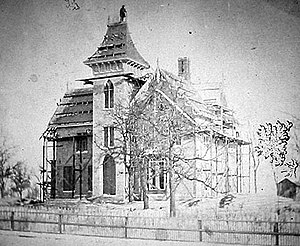 William G. LeDuc House - The LeDuc home under construction in 1863