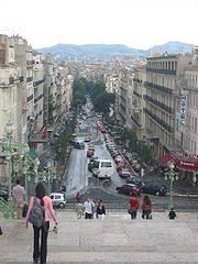 A view of the boulevard d'Athènes from the Saint-Charles railway station