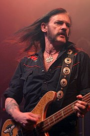 Lemmy playing bass live.