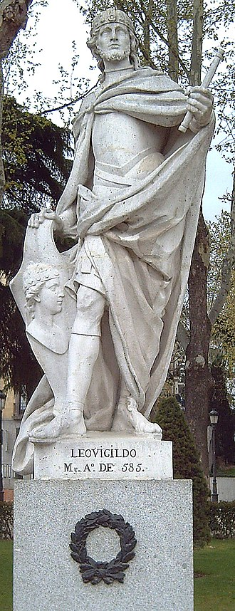 Liuvigild - Statue of Liuvigild in Madrid  (Felipe del Corral), 1750-53