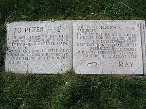 Peter DeRose - The epitaph letter from May to Peter
