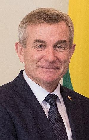 Viktoras Pranckietis - Image: Lietuvas parlamenta priekšsēdētāja vizīte Latvijā (cropped)