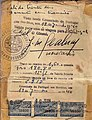 Life saving visa issued by Dr. Aristides de Sousa Mendes in June 19, 1940..jpg