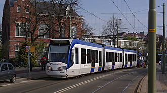 Loosduinen - Regio Citadis 4036 tram on tram line 2.