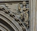 Lincoln Cathedral, Angel holding book with raised finger (s7) (32147065161).jpg