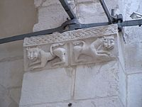 Lions on the wall inside the Cathedral Vladimir H9128 C.JPG