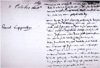 History of the telescope - Notes on Hans Lipperhey's unsuccessfully requested a patent on the telescope in 1608