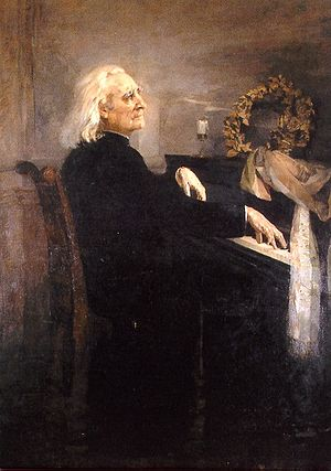 Walter Bache - Franz Liszt at the keyboard, 1879.