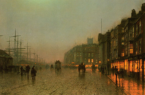Liverpool from Wapping 1875 John A Grimshaw