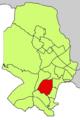 Localització de Bellver respecte del Districte de Ponent.png