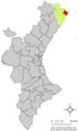 Localització de Vinaròs respecte del País Valencià.png