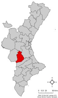 Localització de la Canal de Navarrés respecte del País Valencià.png