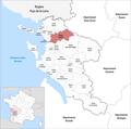 Locator map of Kanton Surgères 2019.png
