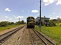 Locomotiva de comboio parado no pátio da Estação Ferroviária de Salto - Variante Boa Vista-Guaianã km 210 - panoramio - Amauri Aparecido Zar….jpg