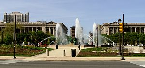 Logan Circle (Philadelphia) - Swann Fountain in Logan Circle