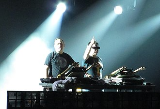 Big beat - The Crystal Method performing at Lollapalooza, 2012