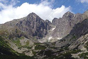 Lomnický štít - Lomnický štít (left) and Kežmarský štít (2558 m)