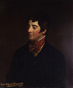 Lord Edward FitzGerald - Portrait of Edward FitzGerald by Hugh Douglas Hamilton, 1796