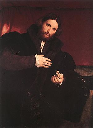 1527 in art - Lotto – Man with a Golden Paw, Kunsthistorisches Museum