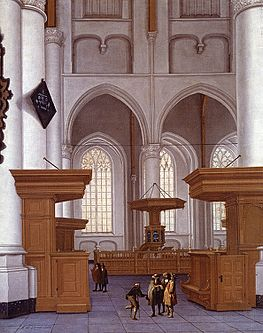 Lorme Anthonie De Interior Of The Laurenskerk Rotterdam View To The South.jpg