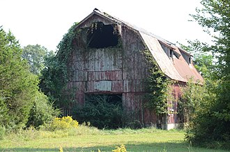 Arkansas Highway 157 - Highway 157 passes historic homestead settlements north of Judsonia. The Louis Gray Homestead Barn stood alongside Highway 157 from 1932 until it was demolished in 2016.