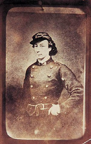 Louise Michel - Michel in uniform.
