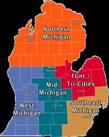 Nord Du Michigan Wikipédia - Mapa de michigan