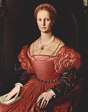 Portrait of Lucrezia Panciatichi - Image: Lucrezia Panciatichi by Angelo Bronzino