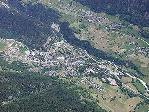 Fiesch - Fiesch viewed from the lift
