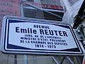 Luxembourg Avenue Emile Reuter nom de rue.JPG