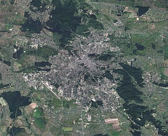 Lviv - Lviv satellite view (Sentinel-2,  14 August 2017)