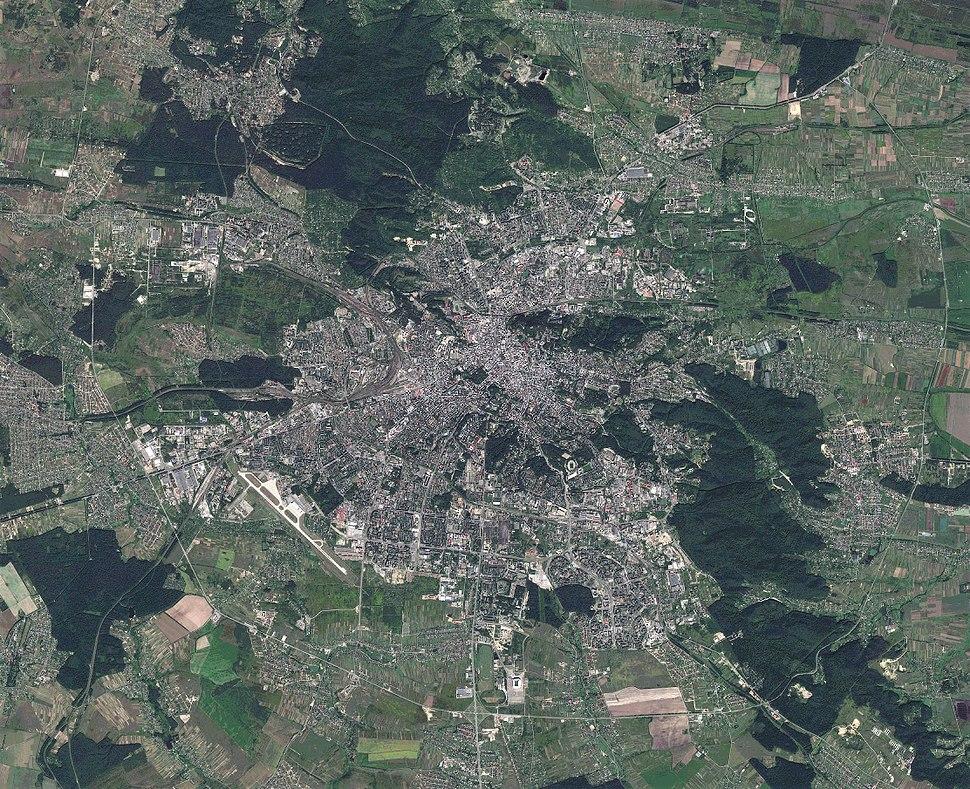 Lviv City, Ukraine, Sentinel-2 satellite image, 30-AUG-2017